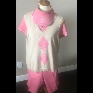 4 piece Izod golf set size 12, sweater XL